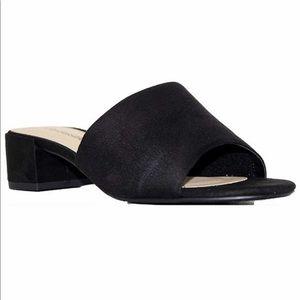Women's City Classified Chunky Heel Suede Sandals